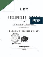 Ley del Presupuesto General de la Nación Argentina para el ejercicio de 1873