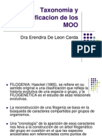 Taxonomia y Clasificacion de Los MOO