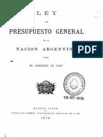 Ley del Presupuesto General de la Nación Argentina para el ejercicio de 1880