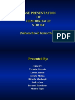Case Presentation of Hemorrhagic Stroke (Subarachnoid Hemorrhage)