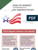 2014 LOUISIANA LEGISLATION 'OF INTEREST'  one week before session