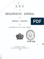 Ley del Presupuesto General de la República Argentina para el ejercicio de 1882