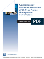 Long Intl Assessment of Problems Associated With Poor PM Performance