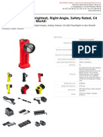 Survivor Led the Brightest Rightangle Safety Rated c4 Led Flashlight in the World