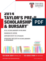 2014 Taylors Pre U Scholarship and Bursary