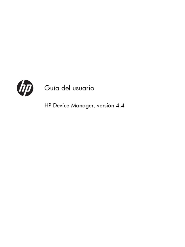 HP Device Manager User Guide Es ES