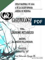 SÍNDROME METABÓLICO DR. VILLAVICENCIO