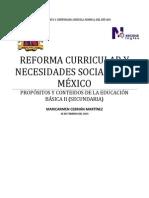REFORMA CURRICULAR Y NECESIDADES SOCIAES EN MÉXICO
