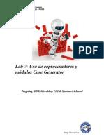 Uso de coprocesadores  y modulos core generator