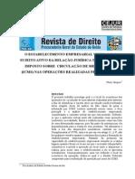 O Estabelecimento Empresarial Virtual - Sujeito Ativo - ICMS - Operações pela Internet