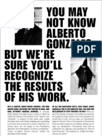 Alberto Gonzales Files - winwithoutwarus org-stop torture nyt ad