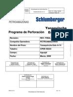 Programa de Perforacion YAN E a-14
