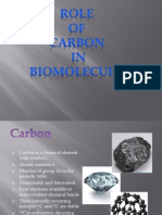 Role of Carbon in Biomolecules