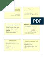 Presentation - Z and F Tesets