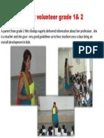 Parent Volunteer Grade 1& 2