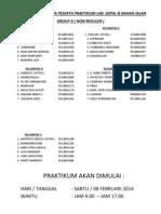 Daftar Nama Group a Kelompok Non Reguler