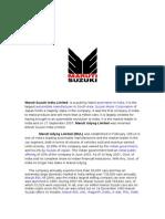 Analysis on Maruti Suzuki