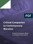 Bidet & Kouvelakis, Eds (Contribs Incl Matheron)_G Elliott, Tr_Critical Companion to Contemporary Marxism (Hist Mat Book Series, 2008)