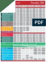 MalvernHouse Dublin Pricelist2014