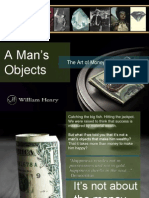 A Man's Objects The Art of Money by William Henry