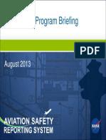 ASRS Program Briefing 2012