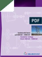Insulator Strings From 500 kV - 1000 kV