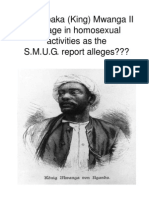 Did Kabaka (King) Mwanga II engage in homosexual activities as the S.M.U.G. report alleges??? by  Kamau Makesi-Tehuti