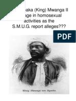 Did Kabaka (King) Mwanga II engage in homosexual activities as the S.M.U.G. report alleges??? by  Kamau Makesi-Tehuti