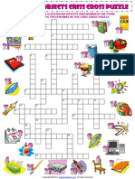 Classroom Objects Supplies Criss Cross Puzzle Vocabulary Worksheet