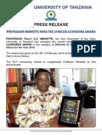 Press Release Copy