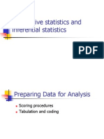 Descriptive and Inferential Statistics Part 1 2013 2014