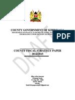 Kirinyaga County Draft Fiscal Strategy Paper