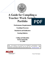 A Guide for Compiling a Portfolio -No Rubrics
