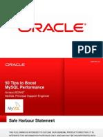 50 Tips to Boost, MySQL Performance Webinar - Slides