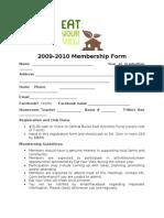 2009-2010 Membership Form