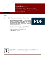 2013 Pharmacy Law Review - Recent Cases