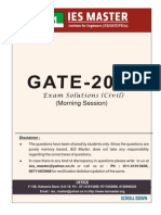 Civil Enginering Morning Session Gate 2014
