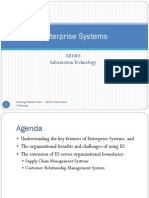 Seminar 9 - Enterprise Systems