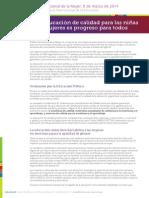 8 marzo 2014. Declaración de la Internacional de la Educación