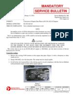 SB606 Correction Engine Data Plate IO-540-AE1A5