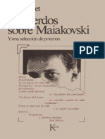 Triolet, Elsa - Recuerdo Sobre Maiakovski