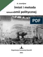 Leontiew - Przedmiot i Metoda Ekonomii Politycznej