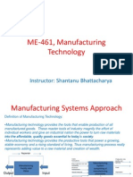 Manufacturing Technology (ME461) Lecture1