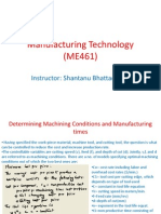 Manufacturing Technology (ME461) Lecture10