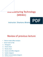 Manufacturing Technology (ME461) Lecture22