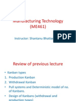 Manufacturing Technology (ME461) Lecture29
