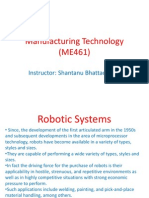 Manufacturing Technology (ME461) Lecture31