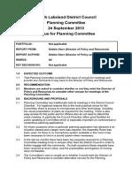 Planning Committee Venue Report