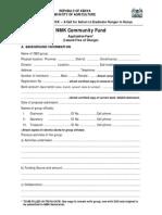 Community Grants Application Form