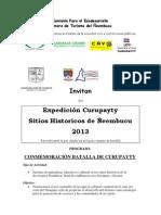EXPEDICIÓN CURUPAYTY 2013 PROGRAMA - INVITACIÓN - copia